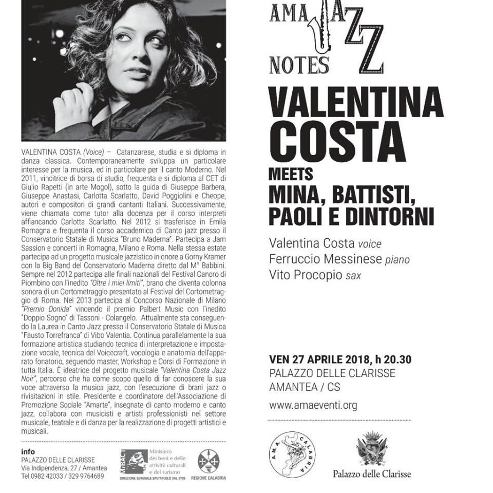 Valentina Costa meets Mina, Battisti, Paoli e dintorni